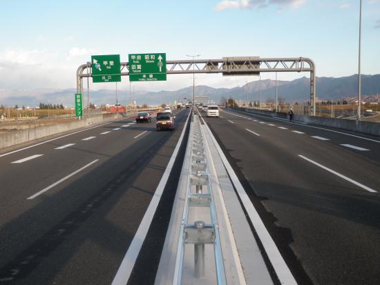 写真1 自動車専用道路6.4kmが完成しました。 本文へスキップします。 トップ くらし・防災